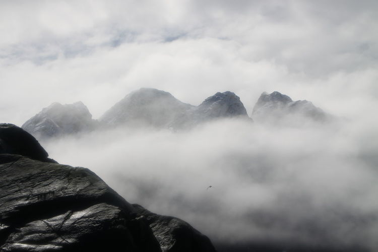 Beauty In Nature Cloud - Sky Day Fog Landscape Mountain Nature No People Outdoors Physical Geography Power In Nature Scenics Sky Tranquil Scene Tranquility