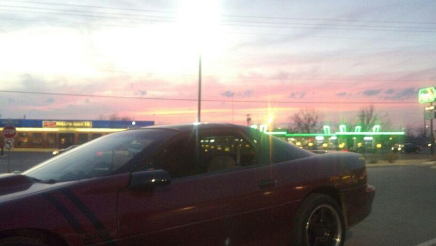 no filter my baby at sunset