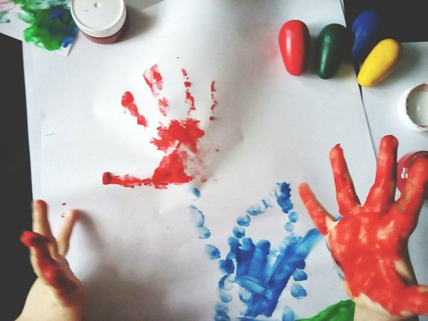 Kids Having Fun Kids Being Kids Kids Painting Kid Hand  Colors Prints Fingers Fingerprints Kid Art In Action Showcase: February Photography In Motion Showing Imperfection