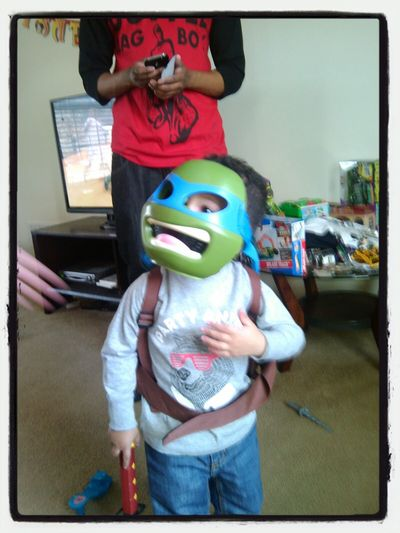 Ninja Turtle my Grandson lol Check This Out Hi!