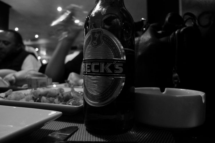Leica Dlux4 Tunis Tunisia Black N White Beer Becks Still Life Restaurant Table