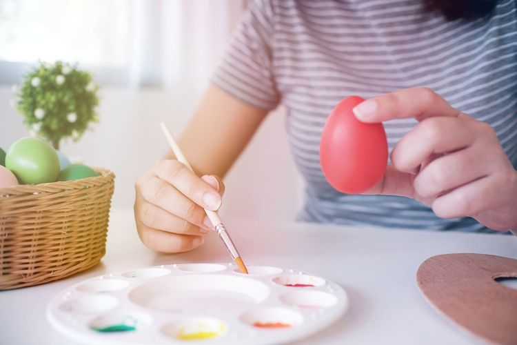 Celebration Colors Easter Egg Easter Ready Funny Holiday POV Home Paint the Town Yellow Tradition Art Color Colorful Event Photographer Handmade Painting Art Preparation  Spring Symbol