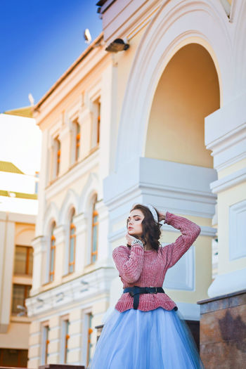 Arch Architecture Beauty Blue Building Exterior Built Structure City Editorial Photography Enjoying Life Enjoying The Sun Millennial Pink Outdoor Photography Sky Sunny Sunny Day Travel Destinations Vacations Warm Art Is Everywhere Fashion Stories