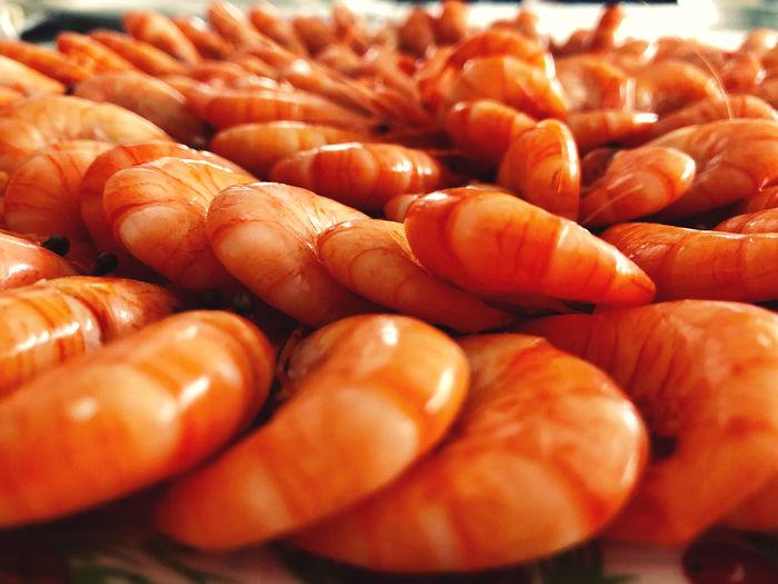 Close-up of shrimps for sale in market