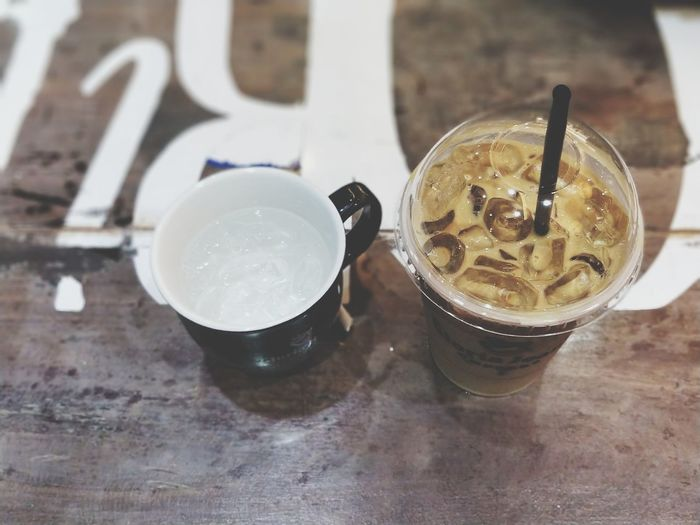 EyeEm Selects GloriaJeansCoffee Cambodia Aeonmall Indoors  Refreshment Food And Drink Drink Table Drinking Glass Phnom Penh