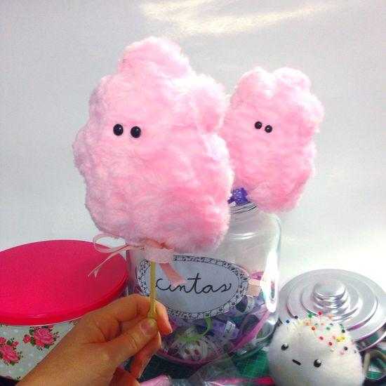 Fat free cotton candy 😀💖 Handmade Handsewn Laviniafenton Sweet Candy Pink DIY Vine KAWAII Cotton Candy