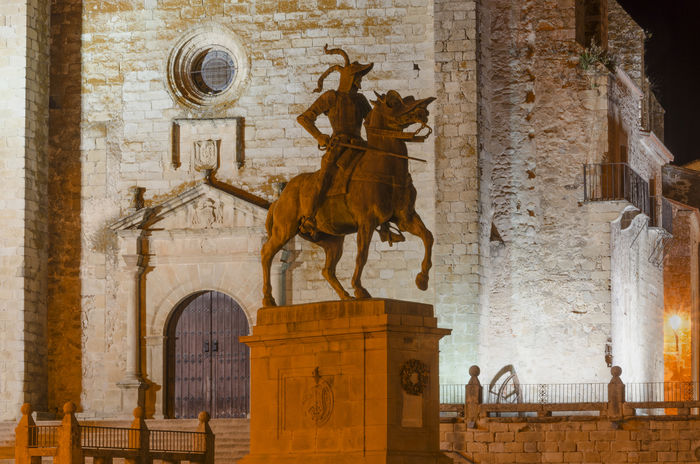 Cáceres Pizarro SPAIN Statue Trujillo Animal Animal Representation Architecture Art And Craft Building Exterior Built Structure Conquer Conqueror History Mammal No People Outdoors Representation Sculpture Statue The Past Travel Travel Destinations