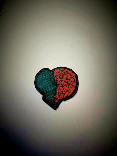 Broken Heart Red Creativity Multi Colored No People Adventure Tranquility Colorful Love Lonely Night