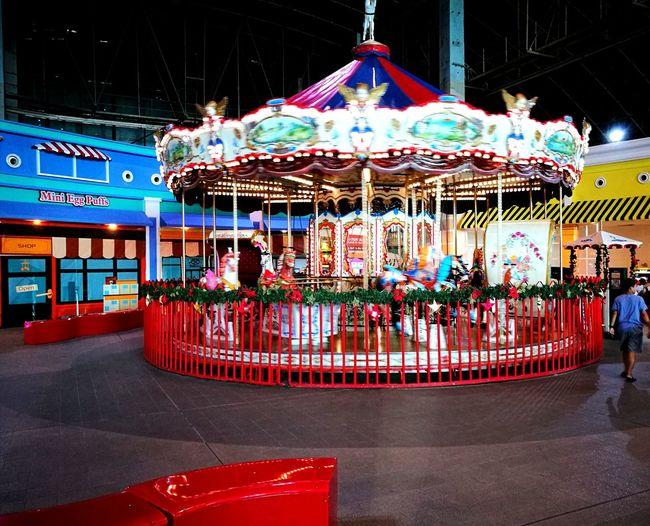 Carrousel In Mall Multi Colored Movement Photography