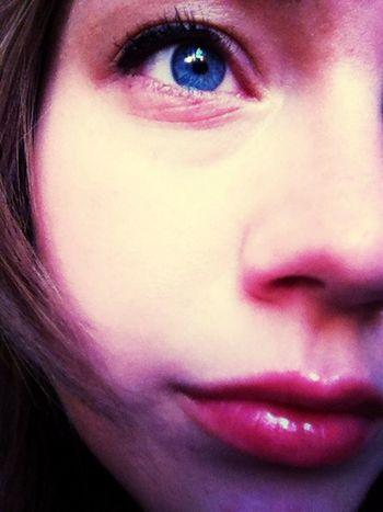 Just My eye! Self Portrait Blue Eyes Smile Makeup
