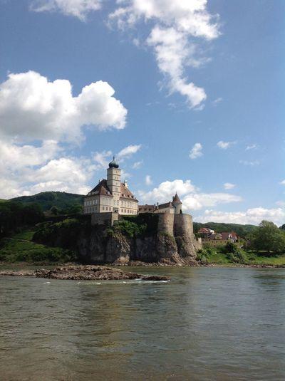 Schloss Schoenbuhel at the Danube river, Wachau, Austria Castle Clouds And Sky Danube Donau Flussufer Melk Schifffahrt Schloss Schönbühel Wachau Water Wolken