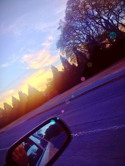 Sunset Captionthisphoto Road Photography Travel Sky Tree Iphone6s Beautiful Amazing