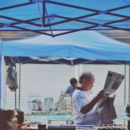 Veteren reading newspaper Gaya Street - Kota Kinabalu , Sabah Gayastreet Kotakinabalu Sabah Negeribawahbayu Tourism Malaysia Reflexsology Market Pasar Vscomalaysia Vscography VSCO