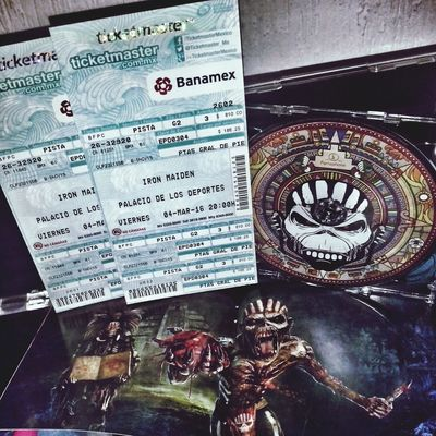 Ironmaiden The Book of Souls Tour with Anthrax In Mexico City . HellYeah! Metal, Tickets and Cd