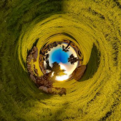 3XSPUnity EyeEm Best Shots Enjoying Life EyeEmNewHere No People Nature Plant Land Sky Tree Green Color Beauty In Nature Day Geometric Shape Tranquility Circle Shape Outdoors Scenics - Nature Water Architecture Hole Sunlight Non-urban Scene