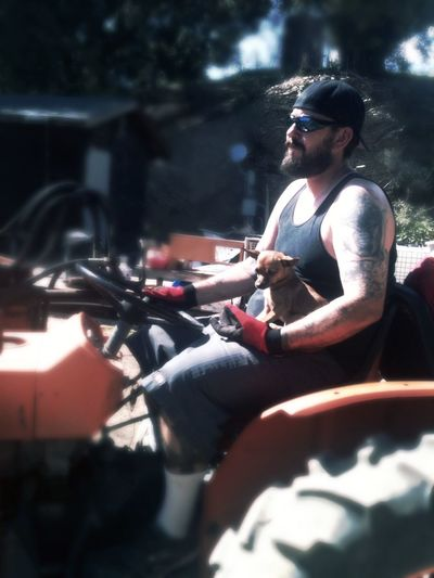 Working like a dog Work Manly  Beard Chihuahua Funny Tractor Myhusband Hewouldkillme RePicture Masculinity