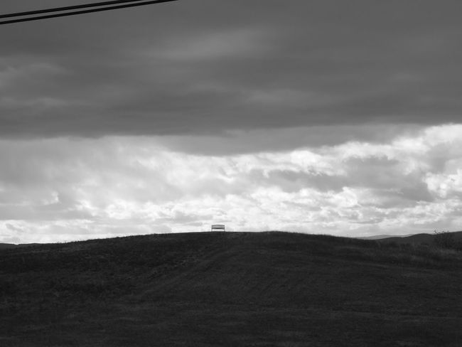Field Grass Blackandwhite Clouds And Sky Grey Clouds Bench No People Drôme Landscape Agriculture Cloud - Sky Outdoors Sky Nature Day