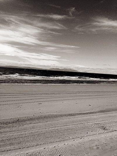 Beach Sea Ocean Blackandwhite Grainy
