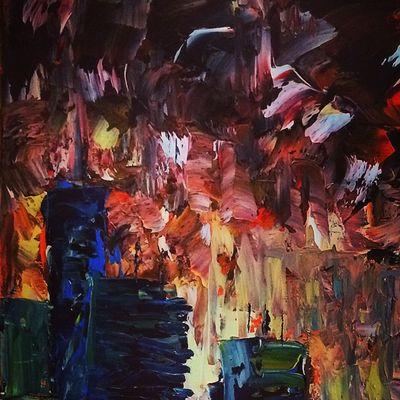 Little SkyLine. Oil Painting