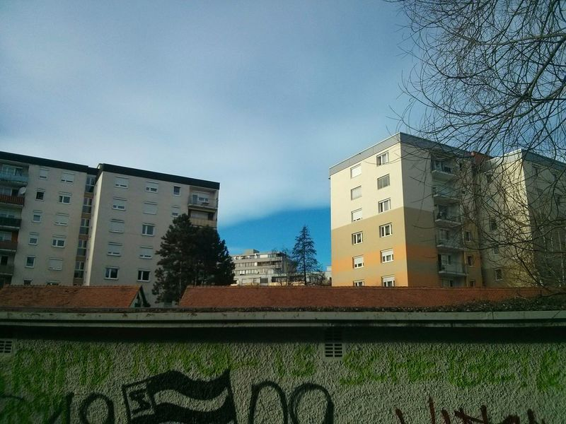 On The Other Side. · Graz Austria Walls Wall Urban Landscape Cityscape Residential Buildings Architecture