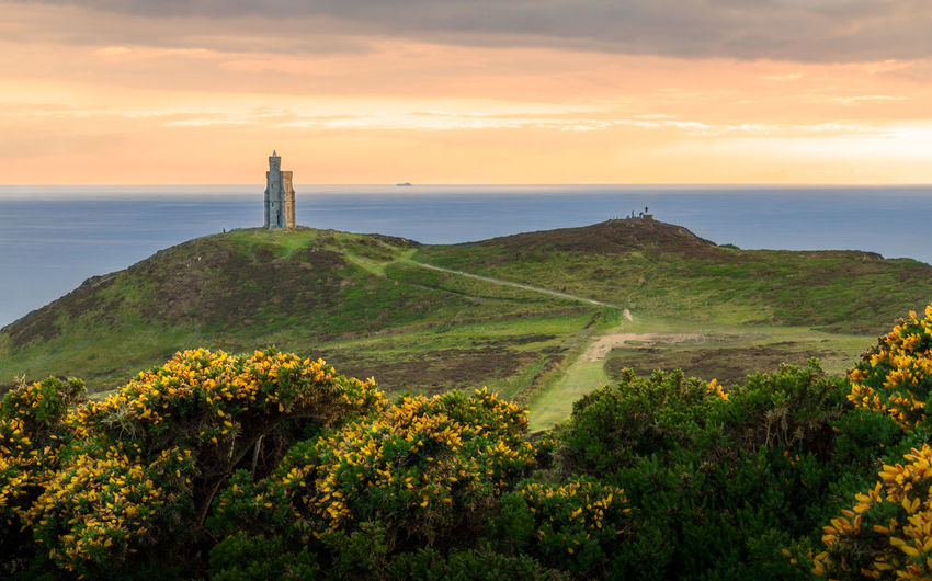Sky Scenics - Nature Beauty In Nature Sunset Plant Cloud - Sky Water Tranquil Scene Nature Sea Tranquility Land Growth No People Idyllic Non-urban Scene Environment Landscape Outdoors Horizon Over Water Tower Bradda Head Isle Of Man My Best Photo The Great Outdoors - 2019 EyeEm Awards