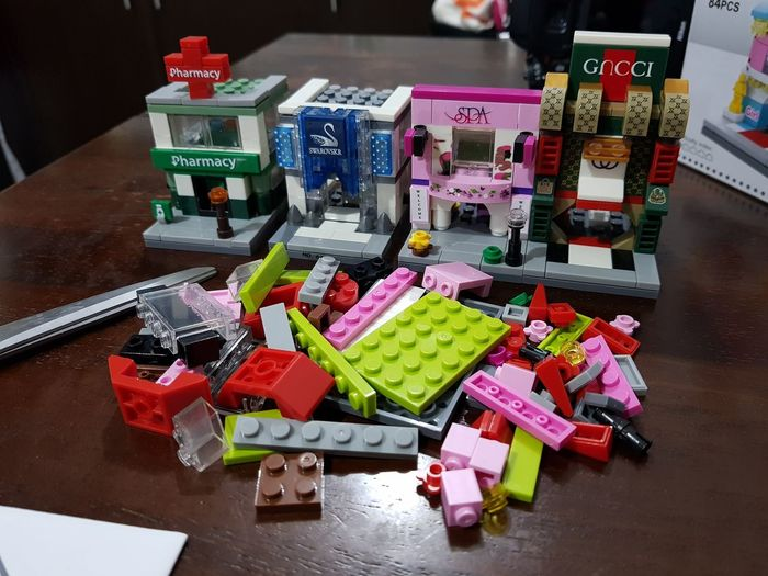 building the entire block Building Blocks Supermarket Groceries City Market Retail  Variation Price Tag Business Finance And Industry Multi Colored Fruit