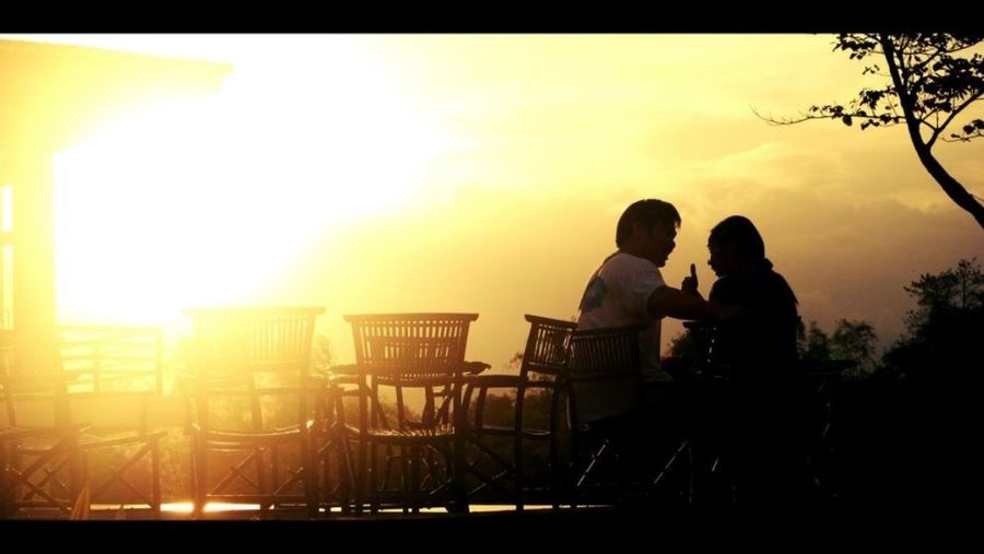 I call this the proposal. Love. Sunrise! People Sunrise Love The Proposal