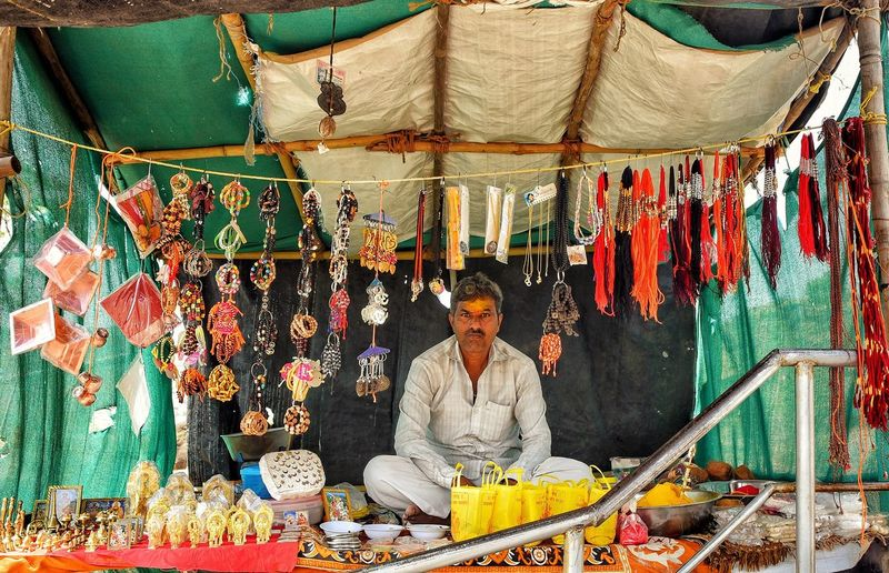 Small business... Pune India Maharashtra One Person Multi Colored Market Real People Retail  Choice Variation Large Group Of Objects Creativity For Sale Lifestyles Adult Art And Craft Sitting Business Day Women Textile Clothing Outdoors Small Business Heroes