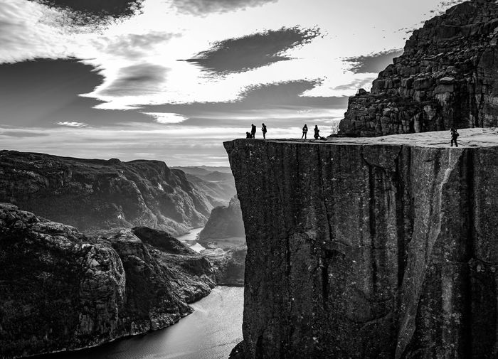 Norway🇳🇴 Fjordsofnorway Hiking Preikestolen Norge Adventure Pulpit Rock View From Above Travel Scandinavia HIKES OUTDOOR Spectacular Fjord Norway Travel Destinations Travel Photography Scandinavia_bw Nordic Nature Nature Photography Destinationearth Nature Bucketlist Blackandwhite Landscape Mountain The Great Outdoors - 2017 EyeEm Awards