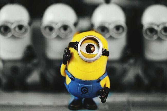 Black & White Minion Love I Love Minions Minionmania Color Minion Big Eye O_O