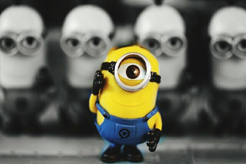 Black & White Minion Love I Love Minions Minionmania Color Minion Big Eye O_O