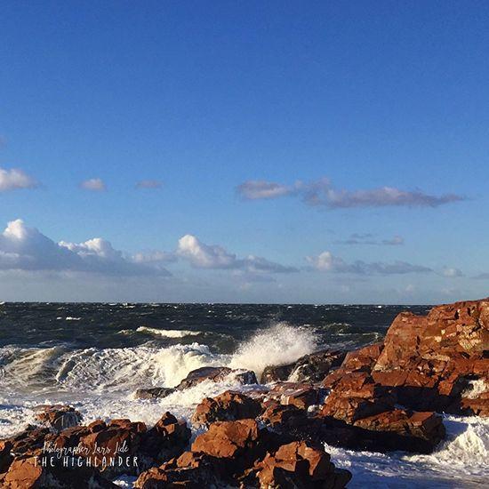 Beauty In Nature Cloud - Sky Sea Water Horizon Over Water Rock - Object Wave Sky