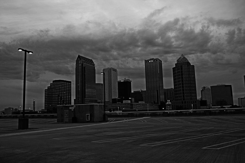 Architecture City Cityscapes Downtown Florida Parking Lot Rooftop Skyline Tampa USA View From The Top the parking lot