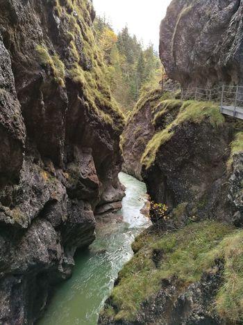 Tiefenbach Klamm in Tirol  Alps , impressive walk along the Gorge