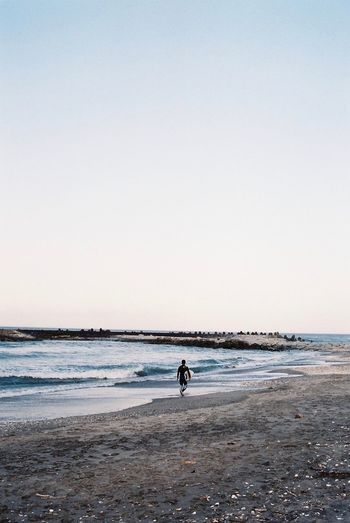 Photo Photography Photooftheday Sea Seaside Beach People Surfer Evening View EyeEmBestPics EyeEm Best Edits EyeEm Best Shots Film Film Photography Filmisnotdead 35mm Film