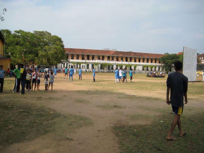 School cricket ground in Sri Lanka Cricket Field