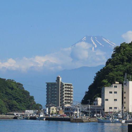 三津。海がきれい。富士山 Mt.Fuji Mito