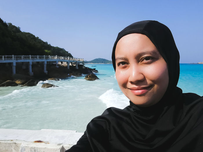 Pulau Redang, Malaysia. Water Portrait One Person Real People Sea Looking At Camera Lifestyles Leisure Activity Young Adult Nature Smiling Headshot Young Women Sky Beach Land Day Front View Outdoors Ocean Snorkeling Malaysia Jetty Travel Destinations Tropical Island Turquoise Water Beautiful Nature