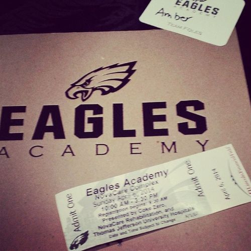 Eagles Women's Academy 2014 Heck yeah TeamFoles my favorite player. TeamFoles PhiladelphiaEagles Bleedgreen eagles