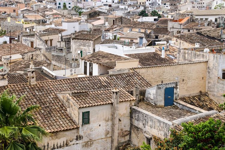 An Eye For Travel Krull&Krull Images Mallorca Architecture Building Exterior Built Structure Day High Angle View Mallorca No People Old Old Buildings Outdoors Residential Building Roof Spanish Tiled Roof  Town TOWNSCAPE Urban Been There.