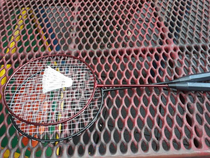 Badminton Racket Badminton Badminton Racket Meroon N Black Playground Metal Net Holeshot Zig Zag Shuttercock White Sport Indoors