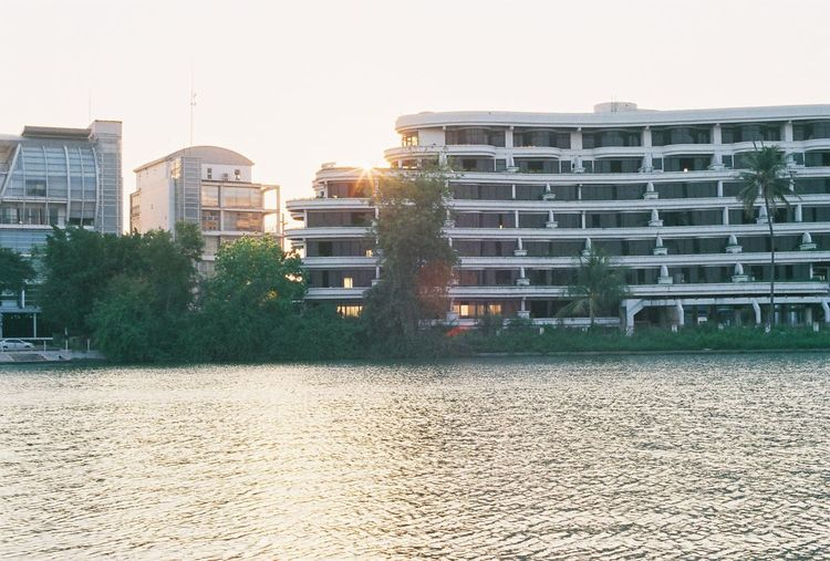 Film FujicolorC200 Apartment Architecture Building Building Exterior Built Structure City Day Film Photography Fujifilm Lakeside Nature No People Office Building Exterior Outdoors Place Residential District Sunlight Waterfront