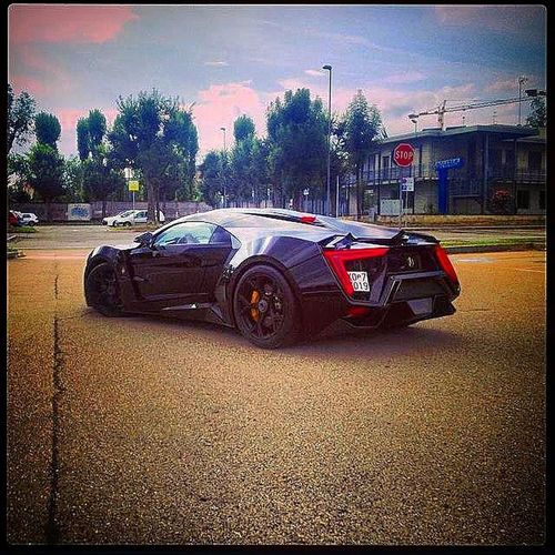 The Lykan Hypersport enjoying its stay in Torino , Italy . WMotors