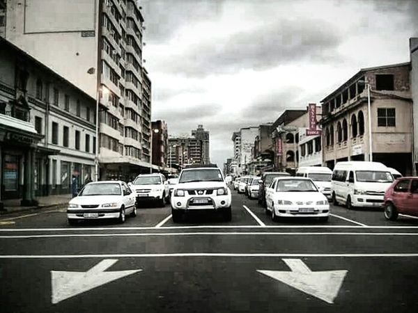 Car City City Street Outdoors Street Sky Transportation Architecture No People Traffic Lights Traffic Durban South Africa Cloud - Sky Lines And Shapes