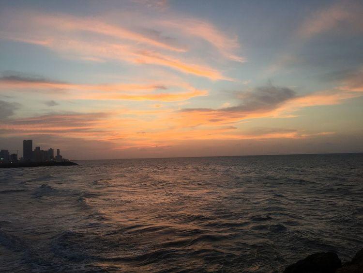 Atardecer en Cartagena Sunset Sea Water Sky Horizon Over Water Scenics Beauty In Nature Tranquil Scene