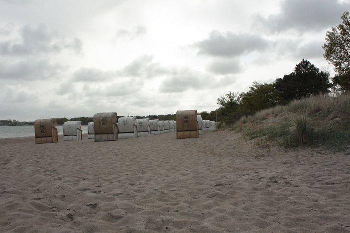 Beach Beauty In Nature Cloud - Sky Day In Reih Und Glied Nature No People Ostsee Ostseeküste Ostseeküste Deutschland Ostseestrand Outdoors Sand Scenics Sea Sky Strandkörbe Timmendorfer Strand Tranquility