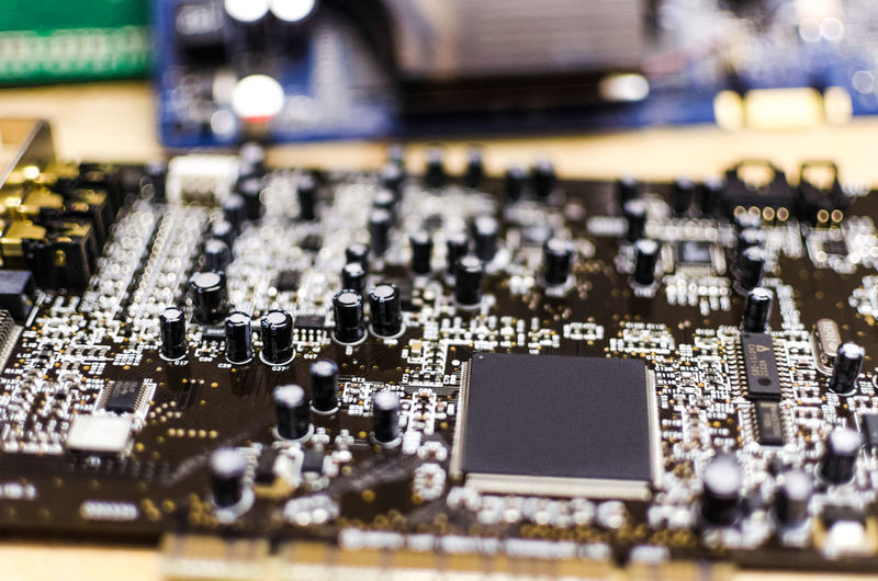 View of mother board