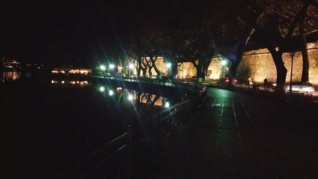 Night Illuminated Reflection Water No People Outdoors Nature Lake Lakewalk Ioannina Ioannina, Greece Kyra_frosini Nightwalks Pamvotis Pamvotida Lakeside