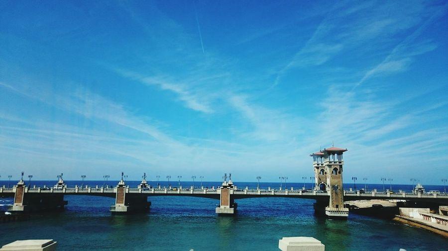Bridge over sea in egypt