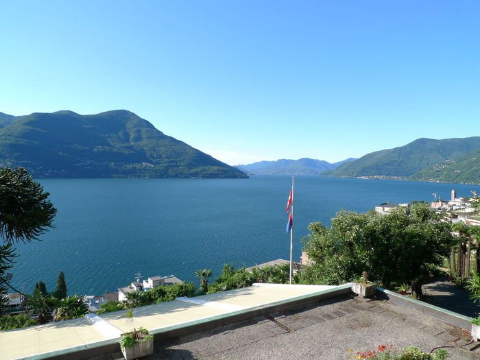 Beauty In Nature Blue Sky Clear Sky Day Lago Maggiore Lake Mountain Nature No People Outdoors Scenics Sky Switzerland Water
